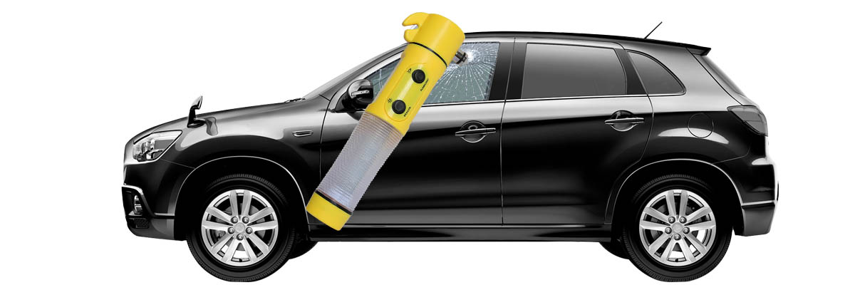 Car Emergency LED Flashlight with Safety Hammer and Belt Cutter TL023